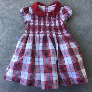 Janie and Jack Girl Plaid Formal Holiday Dress